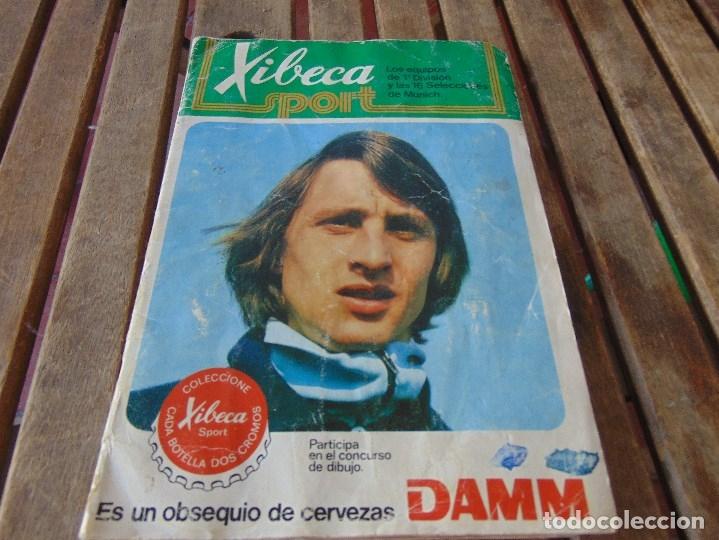ALBUM DE FUTBO 1974 XIBECA SPORT CERVEZAS DAMM PRIMERA DIVISION SELECCIONES DE MUNICH (Coleccionismo Deportivo - Álbumes y Cromos de Deportes - Álbumes de Fútbol Incompletos)
