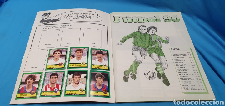 Coleccionismo deportivo: Album de cromos panini futbol 90 incompleto con póster completo en el interior - Foto 2 - 175769604