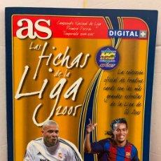 Coleccionismo deportivo: LAS FICHAS DE LA LIGA 2005 ALBUM, CONTIENE 176 CROMOS. MUY BUEN ESTADO. TODAS LAS PAGS FOTOGRAFIADAS. Lote 175830499