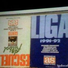 Coleccionismo deportivo: LIGA 1991 92 Y ESCUELA DE FÚTBOL GENTO COMPLETO A FALTA DE UN CROMO. DIARIO AS. PORTES GRATIS.. Lote 175987090