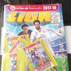 Coleccionismo deportivo: ÁLBUM CROMOS FÚTBOL LIGA ESTE 2017 2018 SIN ABRIR + SOBRES. Lote 176267383