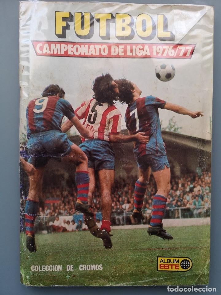 ALBUM FUTBOL EDICS ESTE TEM 1976 1977 76 77 CASI COMPLETO 284 CROMOS SIN FICHAJES PEGADOS VENTANILLA (Coleccionismo Deportivo - Álbumes y Cromos de Deportes - Álbumes de Fútbol Incompletos)
