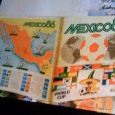 Coleccionismo deportivo: MEXICO 86 INCOMPLETO FALTAN 48 DE 427 CROMOS. PANINI. MUNDIAL FÚTBOL 1986. PORTES GRATIS.. Lote 176465088