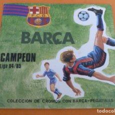 Coleccionismo deportivo: BARÇA CAMPEON LIGA 84 85 ALBUM DE CROMOS INCOMPLETO CON MUCHOS CROMOS MUY BUEN ESTADO. Lote 176587777