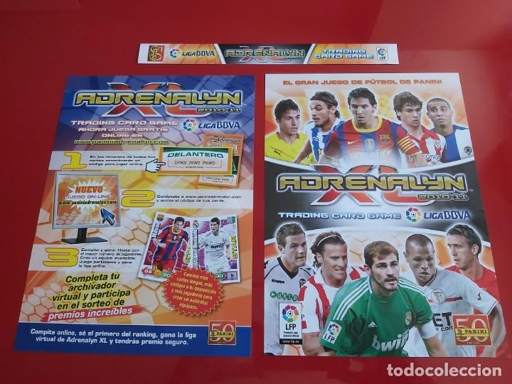 PORTADAS ORIGINALES COLECCION ALBUM ARCHIVADOR ADRENALYN LIGA 2010 2011 10 11 PANINI CON MESSI (Coleccionismo Deportivo - Álbumes y Cromos de Deportes - Álbumes de Fútbol Incompletos)