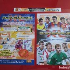 Coleccionismo deportivo: PORTADAS ORIGINALES COLECCION ALBUM ARCHIVADOR ADRENALYN LIGA 2010 2011 10 11 PANINI CON MESSI. Lote 189376481