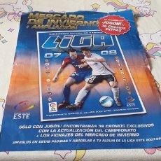 Coleccionismo deportivo: HOJA MERCADO DE INVIERNO LIGA ESTE 2007 2008 07 08 CON 18 CROMO PEGADO. Lote 176883252