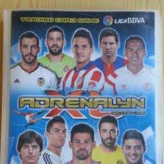 Collezionismo sportivo: ÁLBUM ARCHIVADOR ADRENALYN XL PANINI LIGA 2014-15 2015 - 288 TRADING CARD FICHAS CROMOS FUTBOL (VER). Lote 177577788