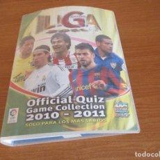 Coleccionismo deportivo: ALBUM CROMOS: LIGA 2011 MUNDICROMO OFFICIAL QUIZ GAME 2010 - 2011 (BASTANTE LLENO CON 588 CROMOS)). Lote 177590165