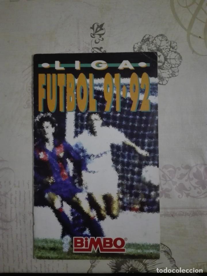 LIGA FÚTBOL 91 92 BIMBO (Coleccionismo Deportivo - Álbumes y Cromos de Deportes - Álbumes de Fútbol Incompletos)