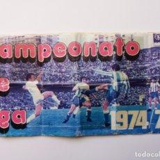 Coleccionismo deportivo: ÁLBUM FÚTBOL CAMPEONATO DE LIGA 1974/75. PIPAS TOSTAVAL. LIT. GRAELL. INCOMPLETO.. Lote 177876108