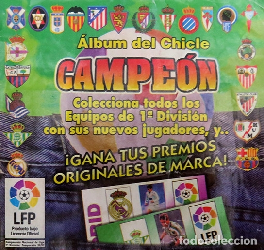 Coleccionismo deportivo: ALBUM Liga 1996 97 con 199 cromos. Real Madrid, Barcelona, Athletic completos. Chicle Campeon - Foto 2 - 178053307
