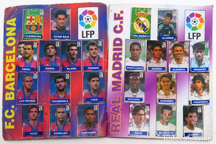 Coleccionismo deportivo: ALBUM Liga 1996 97 con 199 cromos. Real Madrid, Barcelona, Athletic completos. Chicle Campeon - Foto 4 - 178053307