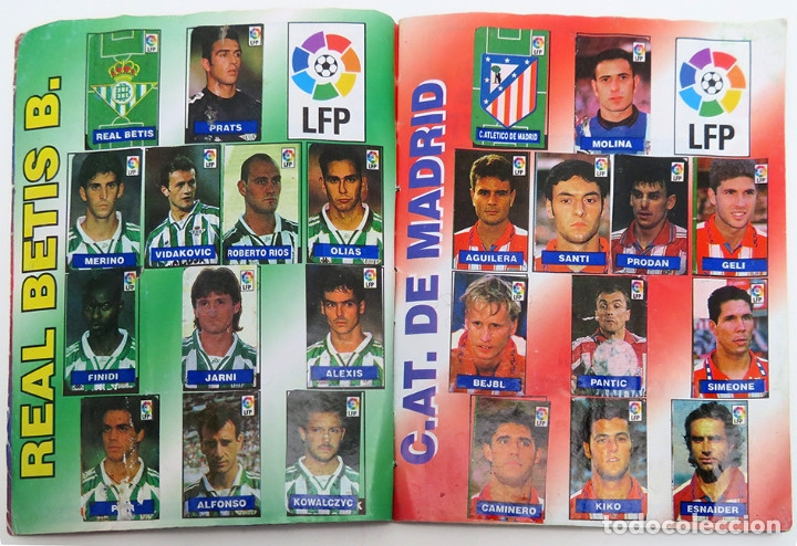 Coleccionismo deportivo: ALBUM Liga 1996 97 con 199 cromos. Real Madrid, Barcelona, Athletic completos. Chicle Campeon - Foto 5 - 178053307