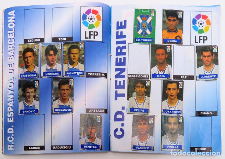 Coleccionismo deportivo: ALBUM Liga 1996 97 con 199 cromos. Real Madrid, Barcelona, Athletic completos. Chicle Campeon - Foto 7 - 178053307
