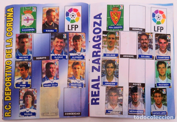 Coleccionismo deportivo: ALBUM Liga 1996 97 con 199 cromos. Real Madrid, Barcelona, Athletic completos. Chicle Campeon - Foto 8 - 178053307