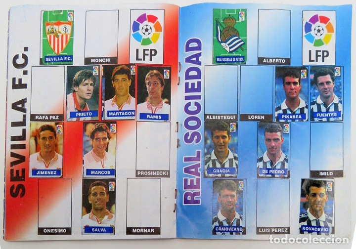 Coleccionismo deportivo: ALBUM Liga 1996 97 con 199 cromos. Real Madrid, Barcelona, Athletic completos. Chicle Campeon - Foto 9 - 178053307
