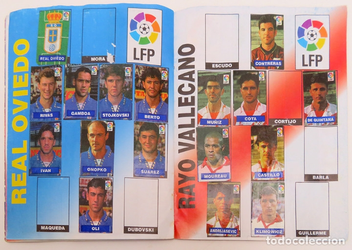 Coleccionismo deportivo: ALBUM Liga 1996 97 con 199 cromos. Real Madrid, Barcelona, Athletic completos. Chicle Campeon - Foto 10 - 178053307