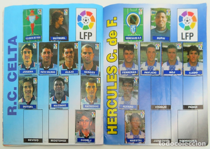 Coleccionismo deportivo: ALBUM Liga 1996 97 con 199 cromos. Real Madrid, Barcelona, Athletic completos. Chicle Campeon - Foto 11 - 178053307