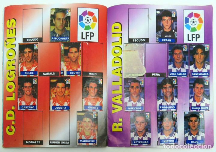 Coleccionismo deportivo: ALBUM Liga 1996 97 con 199 cromos. Real Madrid, Barcelona, Athletic completos. Chicle Campeon - Foto 12 - 178053307