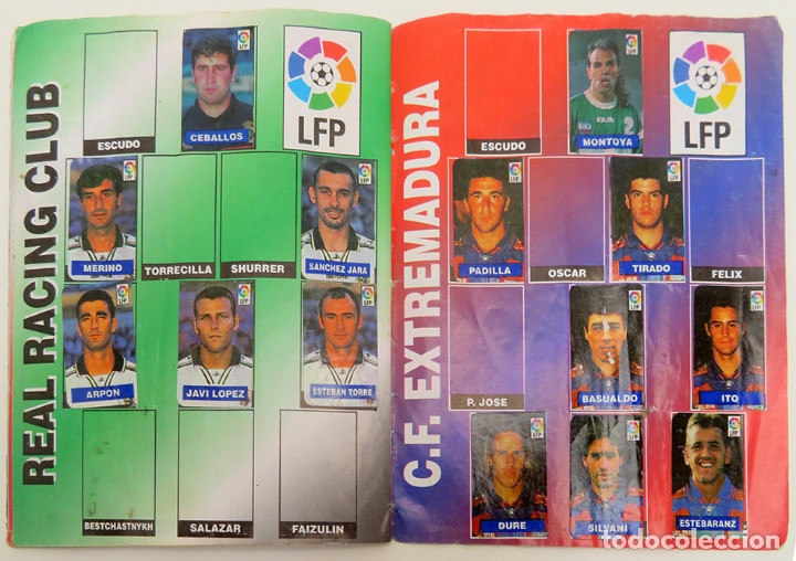 Coleccionismo deportivo: ALBUM Liga 1996 97 con 199 cromos. Real Madrid, Barcelona, Athletic completos. Chicle Campeon - Foto 13 - 178053307