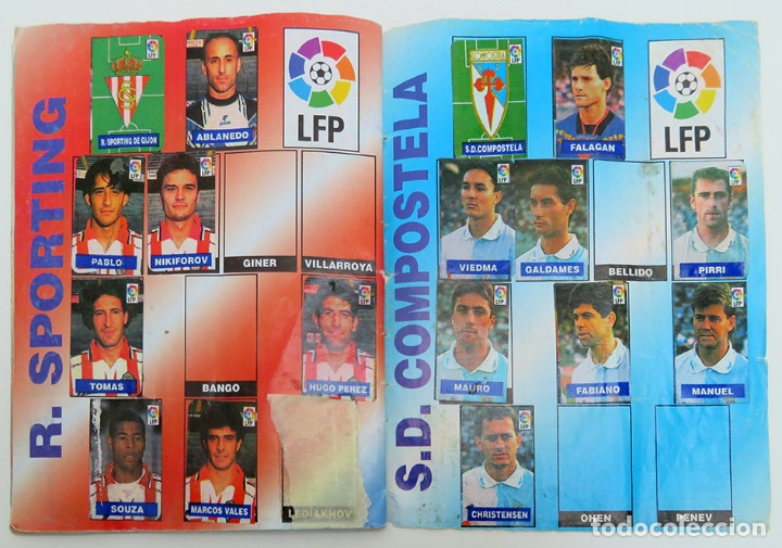 Coleccionismo deportivo: ALBUM Liga 1996 97 con 199 cromos. Real Madrid, Barcelona, Athletic completos. Chicle Campeon - Foto 14 - 178053307