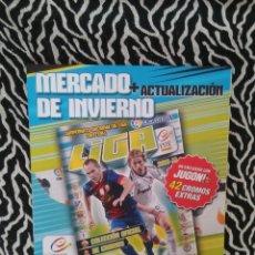 Coleccionismo deportivo: HOJAS VACÍAS MERCADO DE INVIERNO Y ACTUALIZACIÓN DEL ÁLBUM LIGA 2013-2014, EDICIONES ESTE 13-14. Lote 178159814
