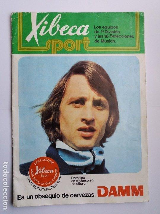 ÁLBUM FÚTBOL XIBECA SPORT. CERVEZAS DAMM. 1973. INCOMPLETO, FALTAN 5 CROMOS. (Coleccionismo Deportivo - Álbumes y Cromos de Deportes - Álbumes de Fútbol Incompletos)