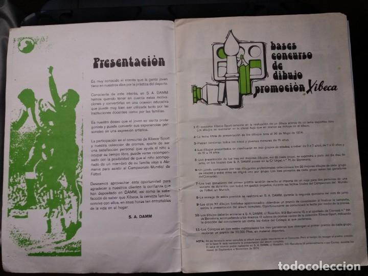 Coleccionismo deportivo: ÁLBUM FÚTBOL XIBECA SPORT. CERVEZAS DAMM. 1973. INCOMPLETO, FALTAN 5 CROMOS. - Foto 2 - 178289618