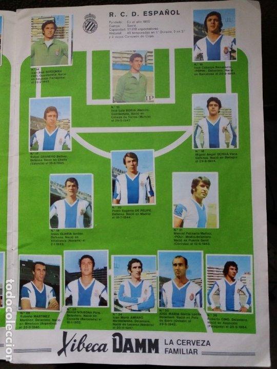 Coleccionismo deportivo: ÁLBUM FÚTBOL XIBECA SPORT. CERVEZAS DAMM. 1973. INCOMPLETO, FALTAN 5 CROMOS. - Foto 4 - 178289618