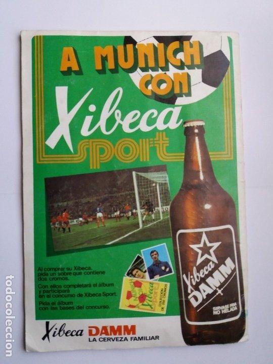 Coleccionismo deportivo: ÁLBUM FÚTBOL XIBECA SPORT. CERVEZAS DAMM. 1973. INCOMPLETO, FALTAN 5 CROMOS. - Foto 26 - 178289618