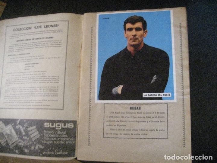 Coleccionismo deportivo: ALBUM LOS LEONES. ATHLETIC CLUB DE BILBAO. COMPLETO( A FALTA DE 1)GACETA DEL NORTE-SUCHARD. AÑO 1974 - Foto 2 - 178829643