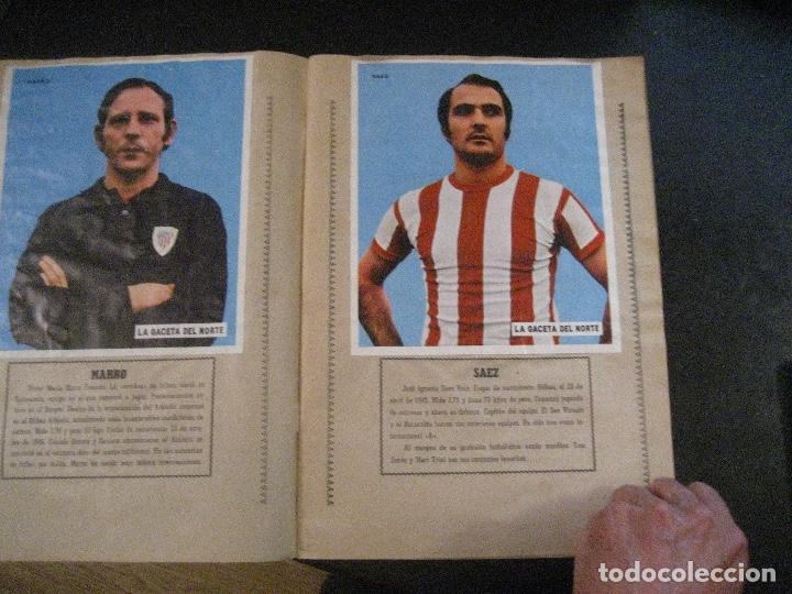 Coleccionismo deportivo: ALBUM LOS LEONES. ATHLETIC CLUB DE BILBAO. COMPLETO( A FALTA DE 1)GACETA DEL NORTE-SUCHARD. AÑO 1974 - Foto 3 - 178829643