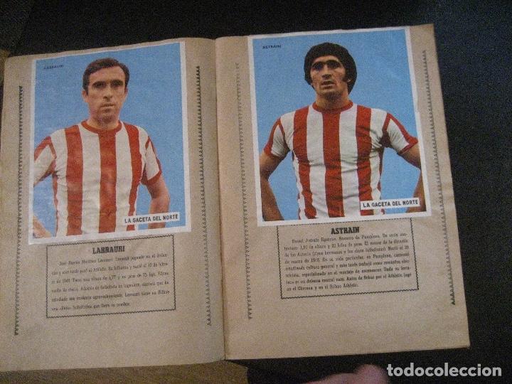 Coleccionismo deportivo: ALBUM LOS LEONES. ATHLETIC CLUB DE BILBAO. COMPLETO( A FALTA DE 1)GACETA DEL NORTE-SUCHARD. AÑO 1974 - Foto 4 - 178829643
