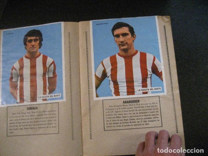 Coleccionismo deportivo: ALBUM LOS LEONES. ATHLETIC CLUB DE BILBAO. COMPLETO( A FALTA DE 1)GACETA DEL NORTE-SUCHARD. AÑO 1974 - Foto 5 - 178829643