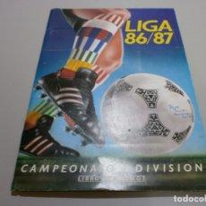 Coleccionismo deportivo: ALBUM LIGA 86 87 EDICIONES ESTE CON CROMOS MUY INTERESANTES. Lote 178960716