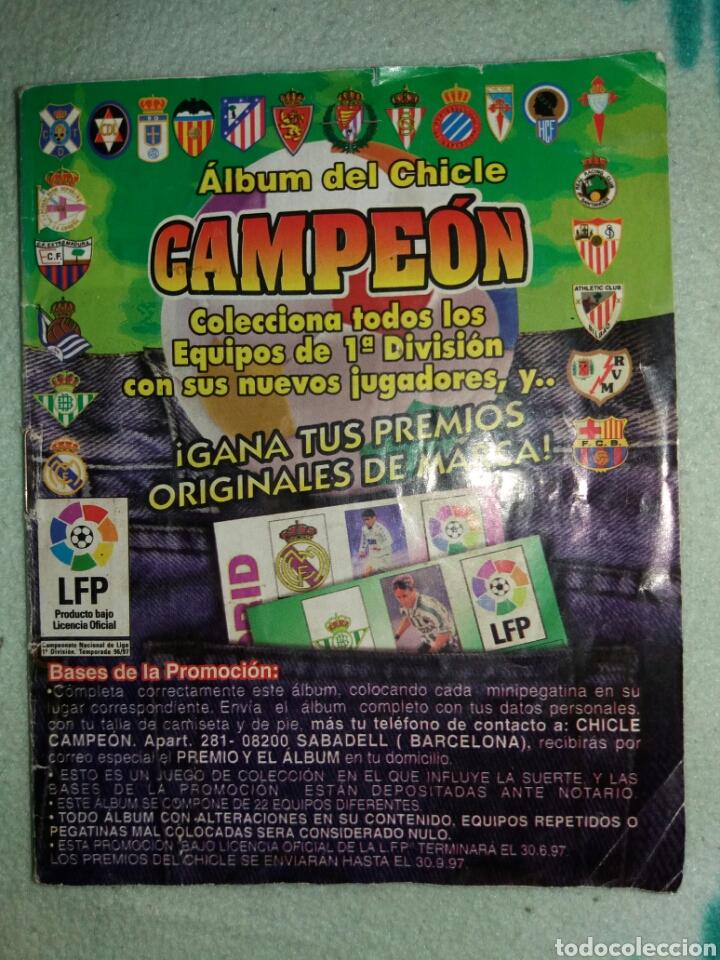 ÁLBUM DEL CHICLE CAMPEÓN (Coleccionismo Deportivo - Álbumes y Cromos de Deportes - Álbumes de Fútbol Incompletos)