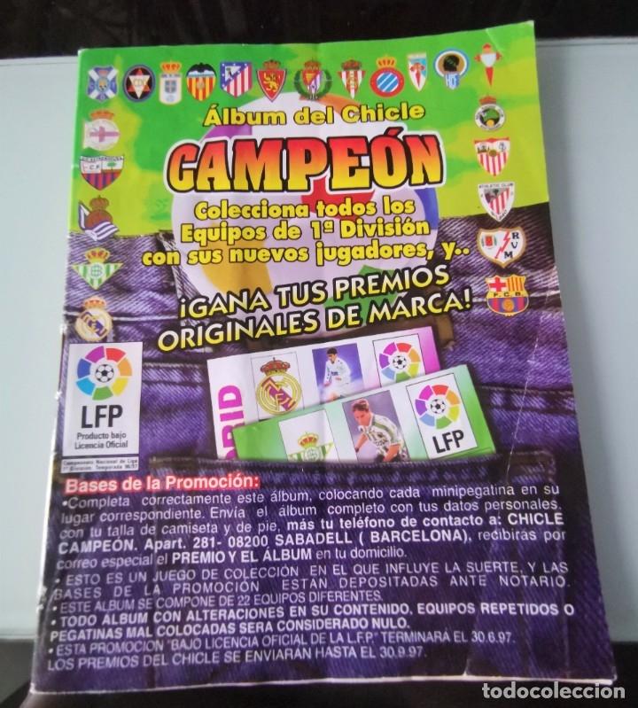 ALBUM CROMOS FÚTBOL CHICLE CAMPEÓN LIGA 96 97 - SOCCER CHEWING GUM ALBUM (Coleccionismo Deportivo - Álbumes y Cromos de Deportes - Álbumes de Fútbol Incompletos)