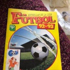 Coleccionismo deportivo: ALBUM DE CROMOS ESTRELLAS DE LA LIGA FUTBOL 92-93 DE PANINI. INCOMPLETO - VER LAS FOTOS. Lote 179084797