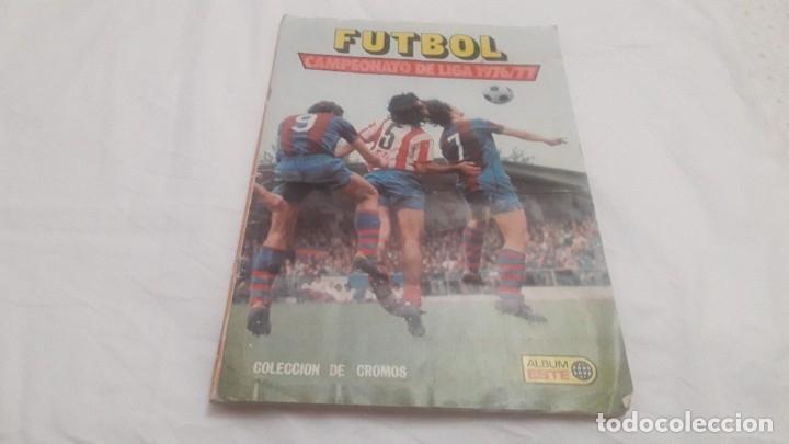 ÁLBUM DE LA LIGA 1976-77 DE ESTE VACÍO (Coleccionismo Deportivo - Álbumes y Cromos de Deportes - Álbumes de Fútbol Incompletos)