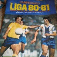 Coleccionismo deportivo: LLIGA 80-81ESTE. ÀLBUM + 5 SOBRES. Lote 180155862
