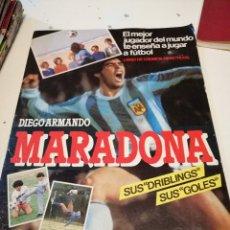 Coleccionismo deportivo: G-OJU32 ÁLBUM DIEGO ARMANDO MARADONA Y LIGA 84-85 (CROMO SPORT S.A) VACIO SIN CROMOS . Lote 180509675