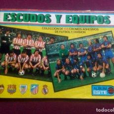 Coleccionismo deportivo: ESCUDOS Y EQUIPOS. ALBUM ESTE. 1976. Lote 181103416