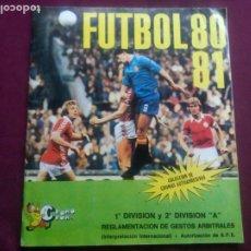 Coleccionismo deportivo: ÁLBUM DE CROMOS FÚTBOL 80 - 81 CROMO CROM. FALTAN 154. Lote 181104717