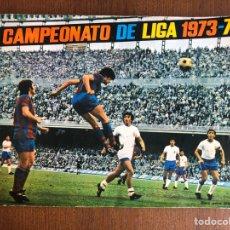 Coleccionismo deportivo: ALBUM FUTBOL FHER DISGRA CAMPEONATO DE LIGA 1973-1974 COMPLETO 73-74 CON POSTER. Lote 181110892