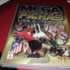 Coleccionismo deportivo: ALBUM MEGA FICHAS LIGA 2003-2004 PANINI CON 258 CROMOS. Lote 181197631