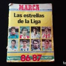 Coleccionismo deportivo: ALBUM LAS ESTRELLAS DE LA LIGA 86/87 (FIRMA QUINI). Lote 182088138