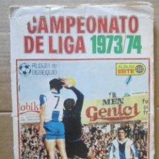 Coleccionismo deportivo: EDICIONES ESTE ALBUM LIGA 1973/74 CON MUCHOS CROMOS. Lote 183168935