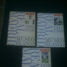Coleccionismo deportivo: COLECCION MUSEO BLANCO.REAL MADRID 3 ÁLBUMES. DIARIO MARCA 1999.. Lote 183405718