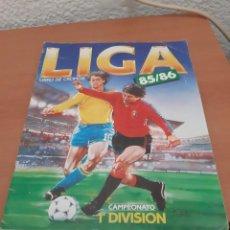 Coleccionismo deportivo: ESTE 85-86 ÁLBUM MUY NUEVO CASI PLANCHA Y CROMOS SUELTOS. Lote 183464572